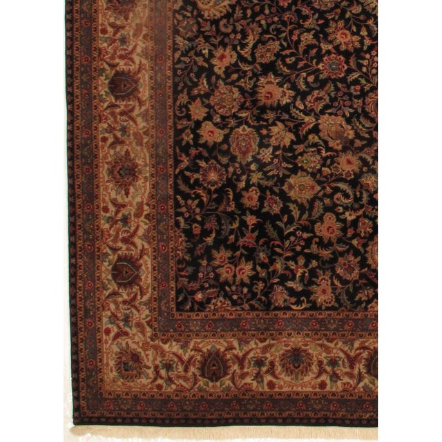 INDO Kashan designed hand-spun wool rug. Lamb's Wool on a Cotton Foundation very fine lamb's wool very good for high...