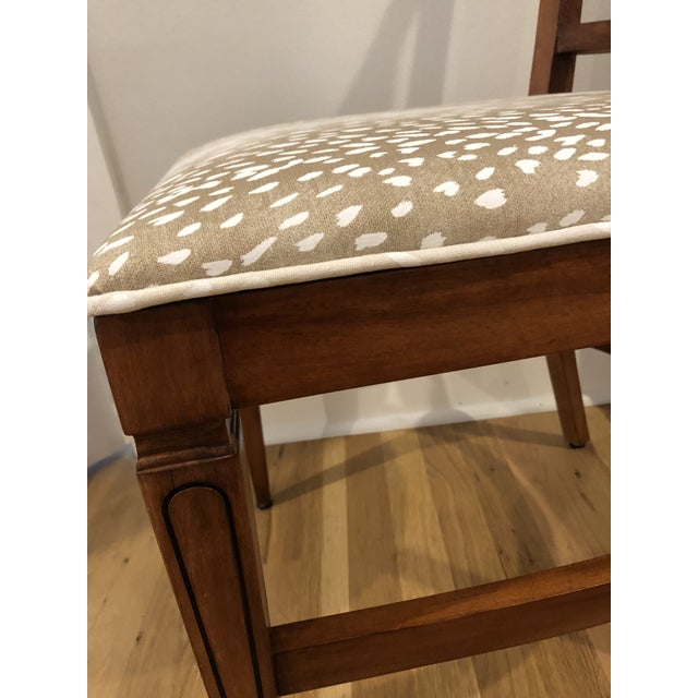 RWAY Mid Century Rock Maple Side Chair by R Way For Sale - Image 4 of 8