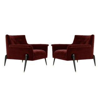 Ico Parisi Style Spider Leg Lounge Chairs, Italy, 1960s - a Pair For Sale