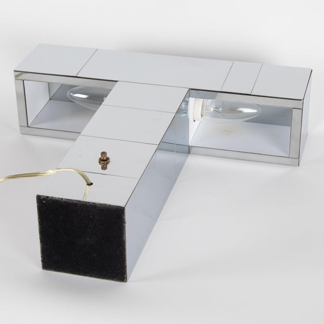 """1970's Paul Evans Chrome """"Cityscape"""" Table or Desk Lamp For Sale In New York - Image 6 of 13"""