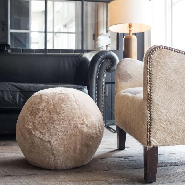 Not Yet Made - Made To Order Shearling Ottoman in Dune Sheepskin by Moses Nadel For Sale - Image 5 of 7