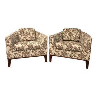 Bernhardt Design Floral Club Chairs - A Pair