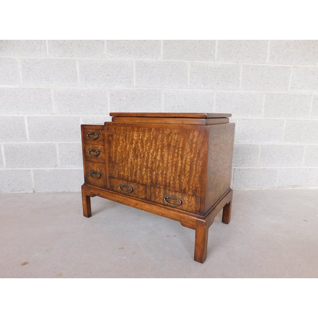 Old Colony Asian Style Silver Chest Server For Sale - Image 9 of 10
