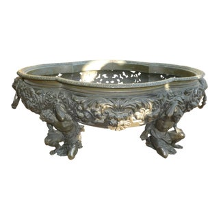 19th Century Antique French Bronze Centerpiece For Sale