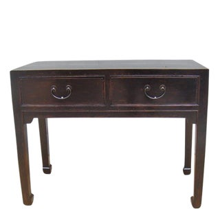 Two-Drawer Console Table For Sale