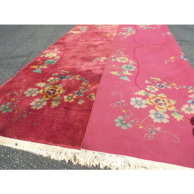 Authentic 1930s Art Deco Chinese Handmade Rug - Image 8 of 9