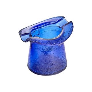 Cobalt Textured Hat Ashtray