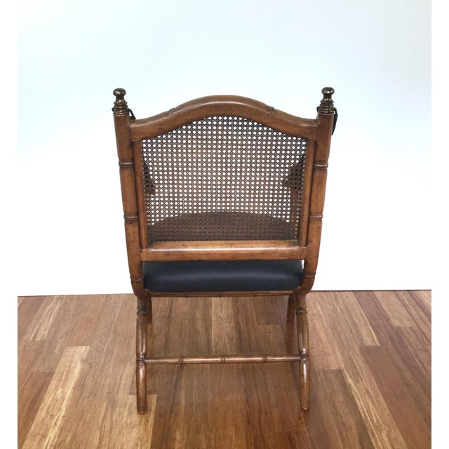 Drexel Drexel Faux Bamboo & Cane Chair For Sale - Image 4 of 6