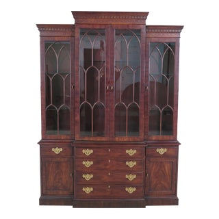 Henredon Rittenhouse Square Collection Mahogany China Cabinet For Sale