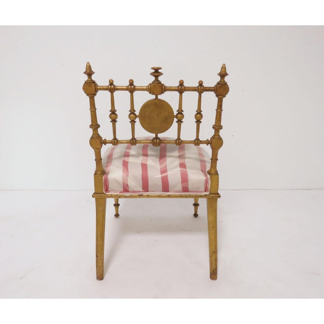 Late 1800s American Aesthetic Movement Giltwood Slipper Chair For Sale - Image 10 of 13