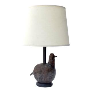 1960s Italian Ceramic Bird Lamp by Aldo Londi for Bitossi For Sale