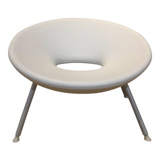 1990s White Scoop Chair by Starke For Sale