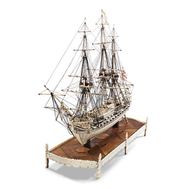 French Prisoner of War Ship Model, Le Héros For Sale - Image 4 of 6