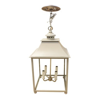 Urban Electric Co Stable Lantern in Benjamin Moore Rockport Grey