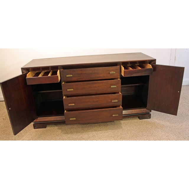 James Mont Mid-Century Asian Modern Ming-Style Mahogany Credenza For Sale In Philadelphia - Image 6 of 11