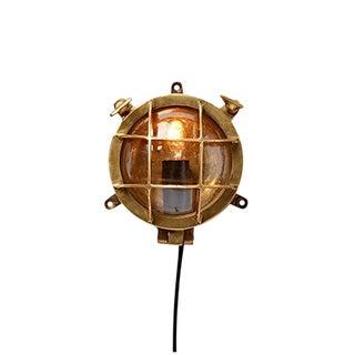 Miniature Nautical Brass Bulkhead Light Circa 1960s