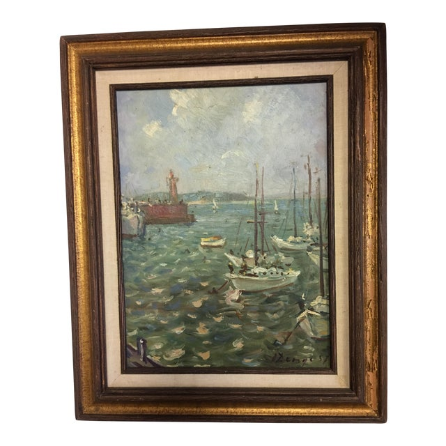 Ivan Denysenko Harbor Painting For Sale