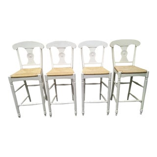 Ethan Allen Caroline Bar Height Stools - Set of 4 For Sale