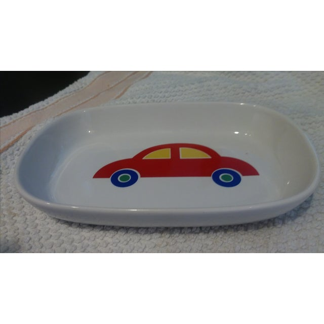 Contemporary 1980s Vintage Unused Marimekko Red Car Dresser Tray or Soap Dish For Sale - Image 3 of 5