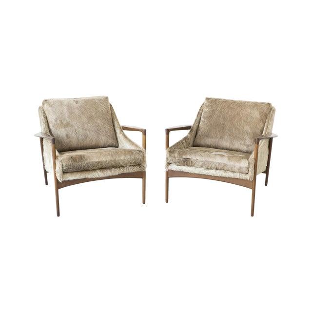 Ib Kofod-Larsen Lounge Chairs - A Pair - Image 1 of 11
