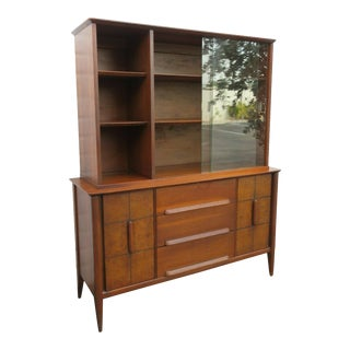 Mid Century Modern China Cabinet by Stanley For Sale