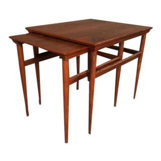 1970s Danish Modern Teak Nesting Tables - Set of 2 For Sale