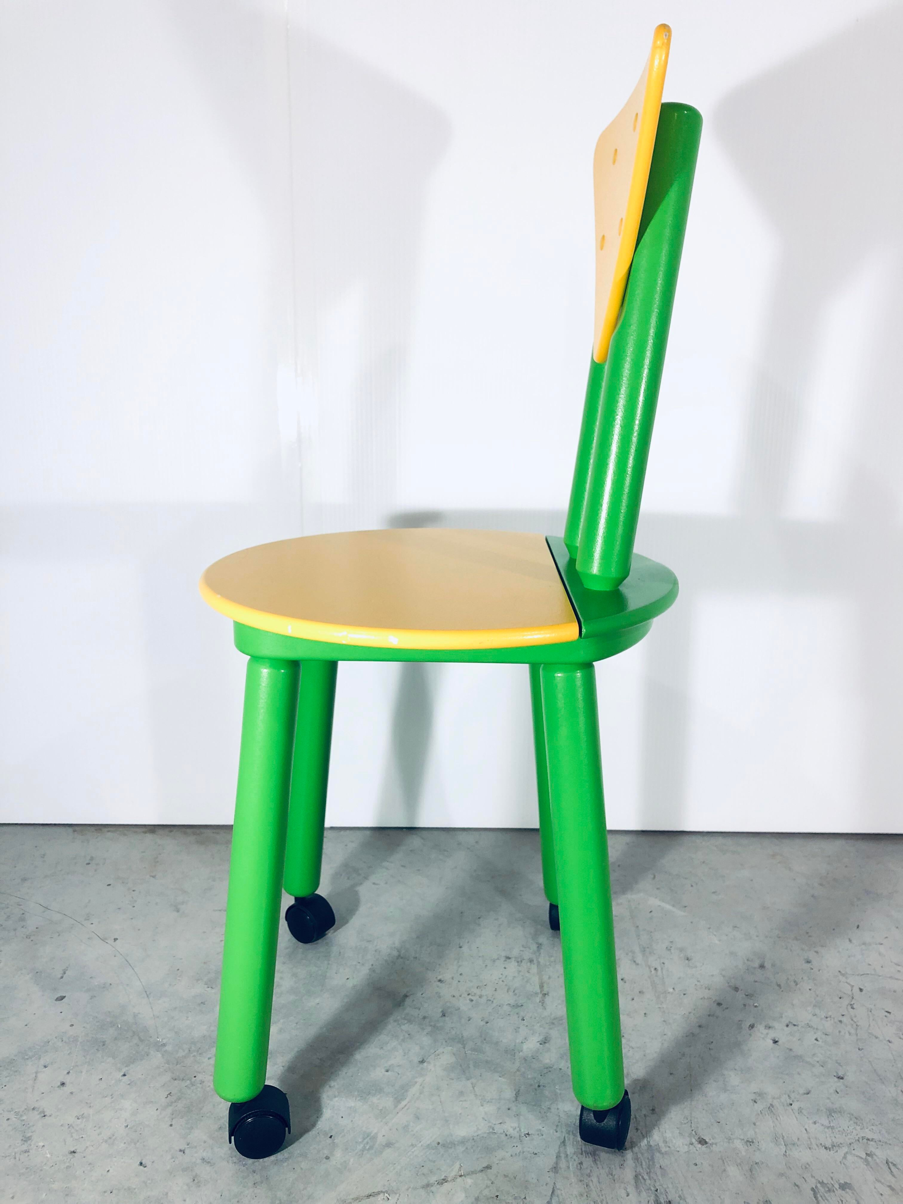 1990s Post Modern Memphis Childrenu0027s Desk Chair For Sale In Miami   Image 6  Of 13