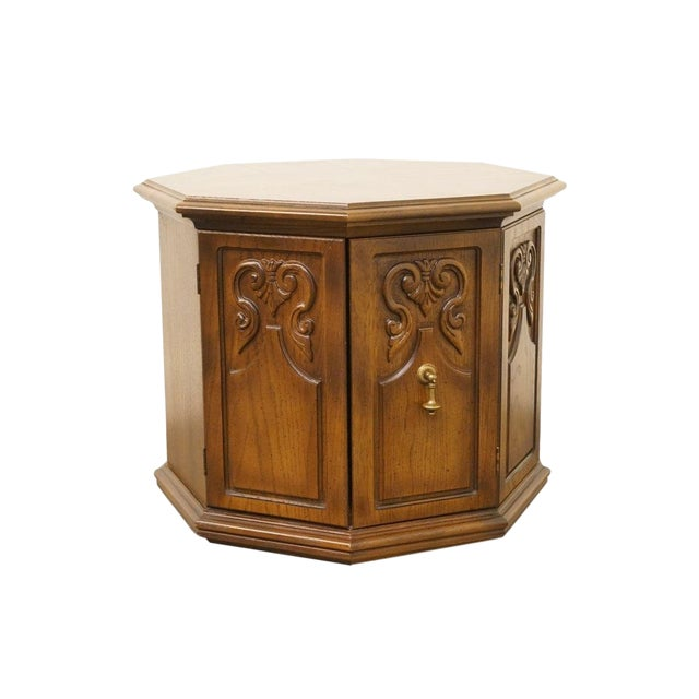 American of Martinsville Octagonal Storage End Table For Sale