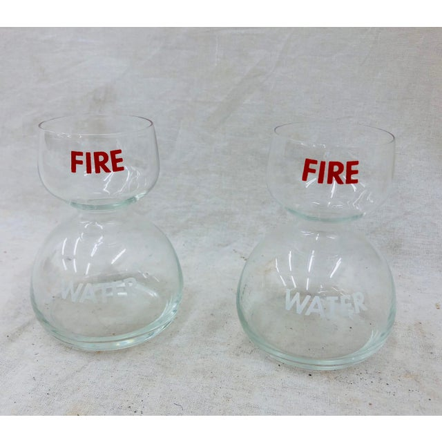 Contemporary Vintage Fire Water Glasses - A Pair For Sale - Image 3 of 3