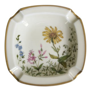 1950s Vintage German Wildflower Meadow Pattern Ash Tray