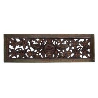 Vintage Carved Wood Panel For Sale
