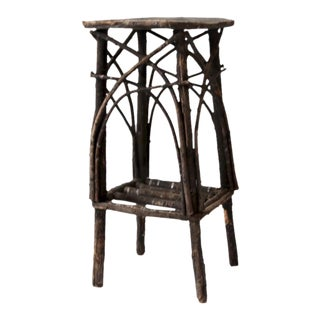 Antique Adirondack Style Twig Table For Sale