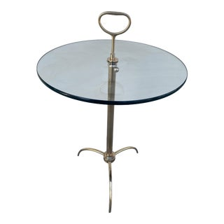 Vintage Adjustable Accent Table in Bronze From 1960. For Sale