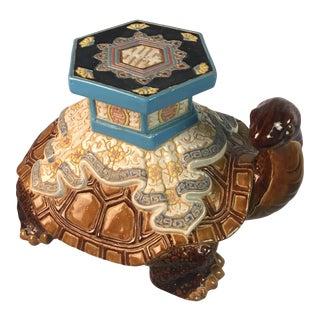 Vintage Turtle Garden Seat For Sale