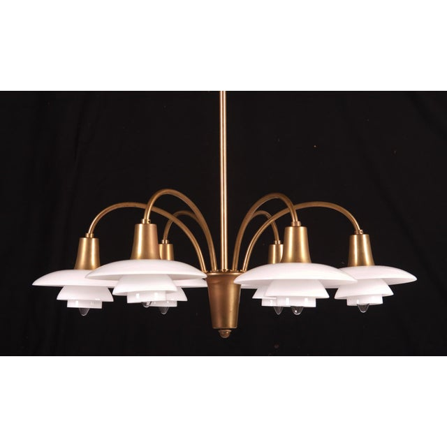 Gold Bombardment Chandelier by Poul Henningsen for Louis Poulsen, 1930s For Sale - Image 8 of 8