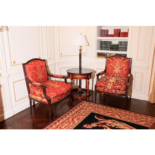 Lewis Mittman Fauteuil in Cream Velvet From Waldorf Astoria New York For Sale - Image 11 of 12