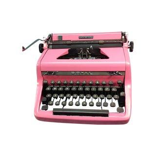 1949 Pink Royal Quiet De Luxe Typewriter