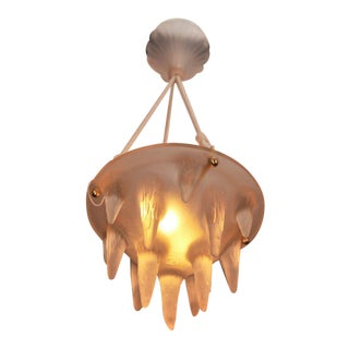 "Rene Lalique Chandelier ""Stalactites"" For Sale"