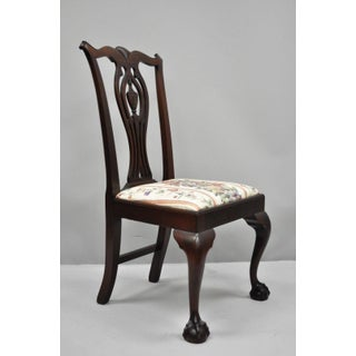 Early 20th Century Antique Mahogany Chippendale Style Dining Chairs - Set of 6 Preview
