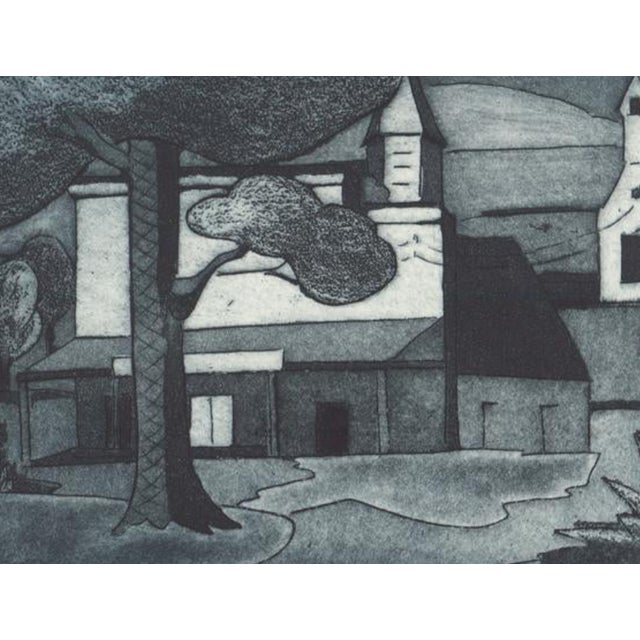 Unsigned 1930s WPA style aquatint etching. Sheet: 12.25 x 9.25 inches Image: 7.8 x 5.5 inches