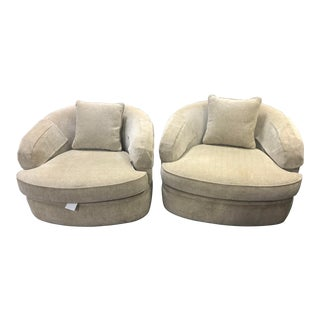 1970s Pearson Lounge Swivel Club Chairs-A Pair For Sale