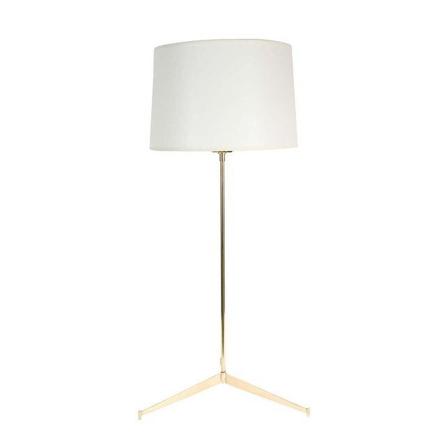 Customizable Roy Brass Tripod Table Lamp - Image 4 of 5