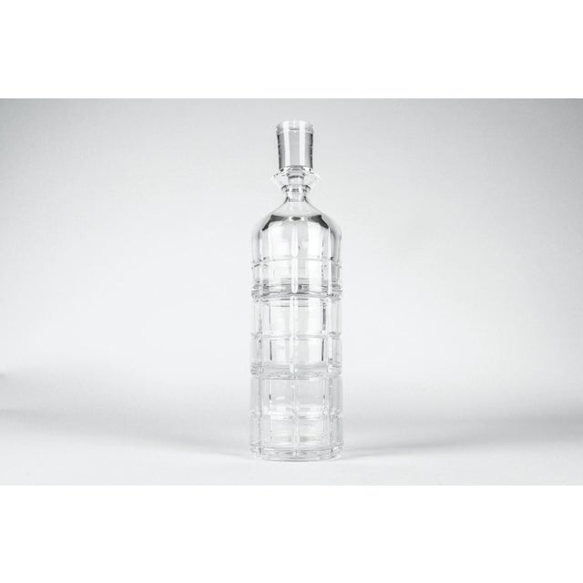 Cut Crystal Three Pieces Drinks Decanter For Sale - Image 10 of 10