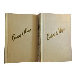 Mid-Century Cooking Magic Cookbooks - Set of 2 For Sale