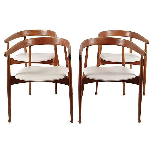 Danish Mid Century Modern Chairs - S/4 - Image 1 of 7