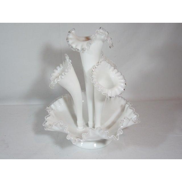 Fenton Epergne Ruffled Vase - Image 3 of 8
