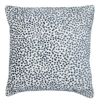 "Contemporary Lola Pillow, Azul, 22""x22"" For Sale - Image 3 of 3"