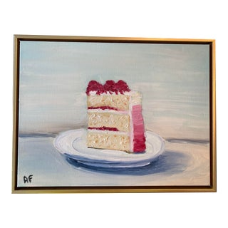 Modern Cake Painting by Alice Ford, Framed For Sale