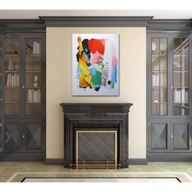 "Gray ""Artist Palette / Oranges"" Original Abstract Artwork by Brandon Neher For Sale - Image 8 of 10"