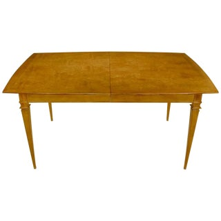 Empire Style Burled Walnut Parquetry Top Dining Table With Copper Accent For Sale